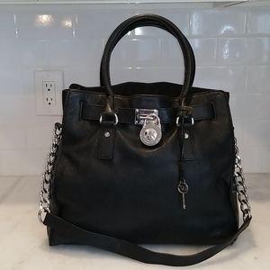 Michael Kors Soft Black Leather XL Hamilton Tote